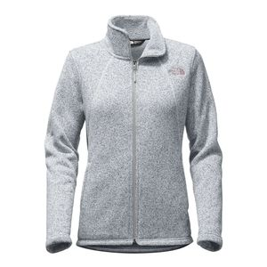Grey North Face Crescent Full Zip Women's Fleece